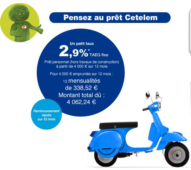 Prêt personnel, multi-projets : un petit taux chez Cetelem jusqu'au 23 juin
