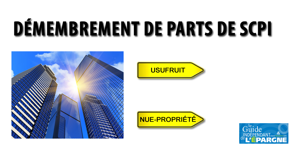 Démembrement de parts de SCPI