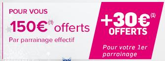 Parrainage bancaire Noël 2016 : Boursorama vous offre 180€ pour votre premier parrainage