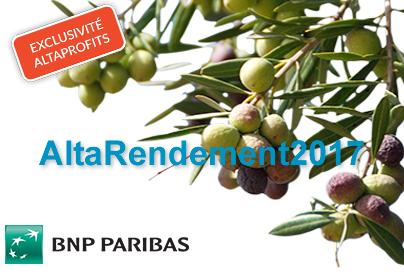 AltaRendement2017 : la nouvelle unité de compte exclusive AltaProfits