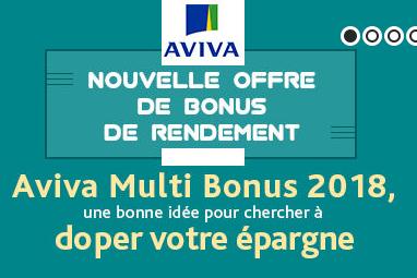 Aviva Multi Bonus 2017-2018 / Evolution Vie : obtenez +25% à +40% de rendement supplémentaire sur votre fonds euros !
