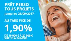 Prêt personnel : Carrefour Banque propose un taux de 1.90%