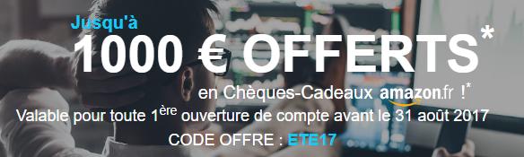 1000€ offerts chez Bourse Direct, prolongation de l'offre de bienvenue jusqu'au 31 août