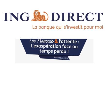 Percevez votre taxe d'attente ! ING Direct rémunère votre temps d'attente, 60 cents par minute ! #PayeTonAttente