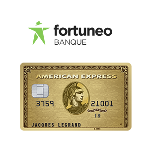 Fortuneo offre les cartes American Express Green ou Gold à ses clients, sous conditions