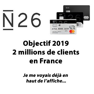 N26 vise les 2 millions de clients en France à fin 2019 pour devenir ainsi la première banque en ligne de France