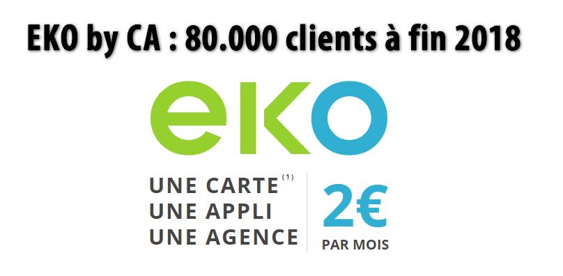 EKO by CA : 80.000 clients à fin décembre 2018, un succès mitigé