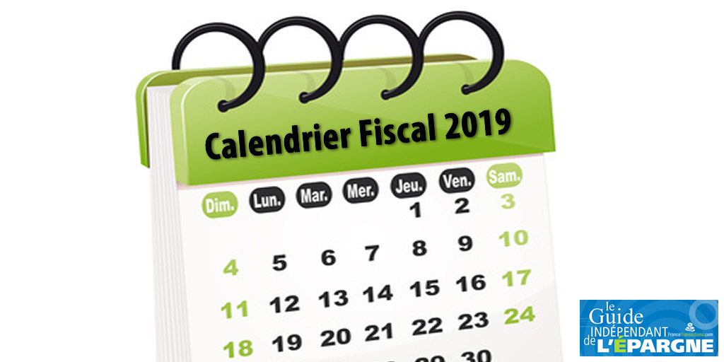 Calendrier fiscal 2019