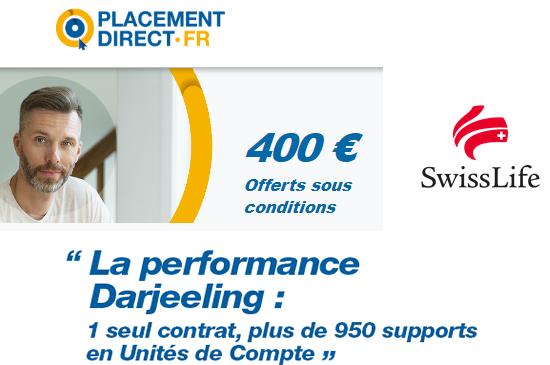 Assurance-Vie Darjeeling : jusqu'à 400€ offerts lors de votre première souscription, sous conditions