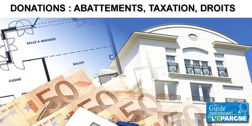 Donations 2021, abattements, barème de taxation, calcul des droits