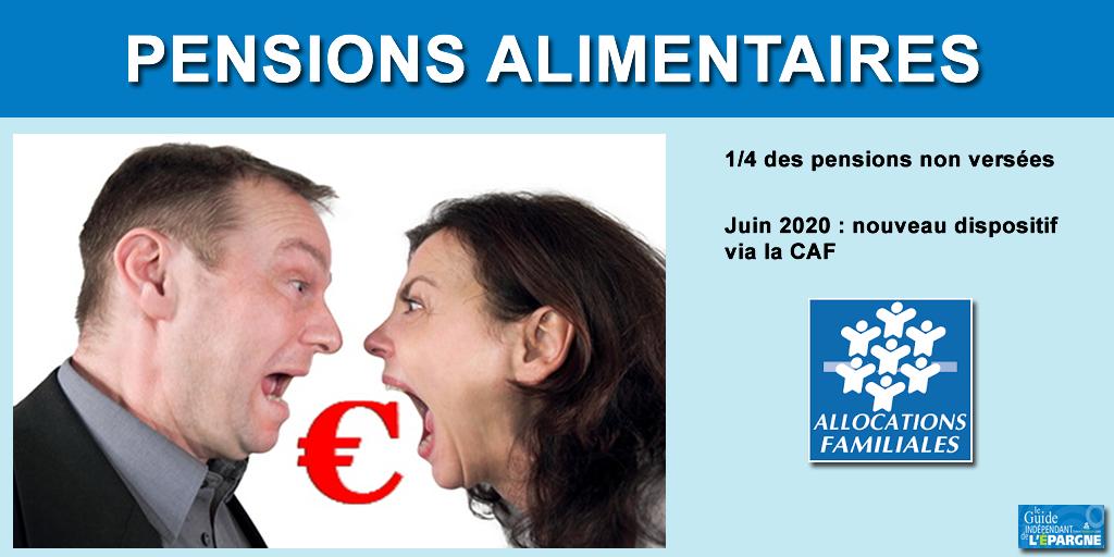 Pensions alimentaires impayées : nouveau dispositif mis en place en juin 2020, via la CAF