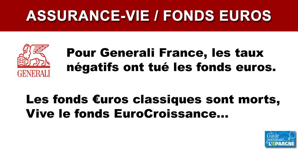 Fin des fonds euros classiques : pour Generali France, la solution passe par les fonds eurocroissance