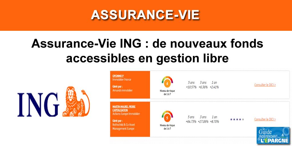 Assurance-Vie ING : le contrat ING Direct Vie propose désormais davantage de choix en unités de compte