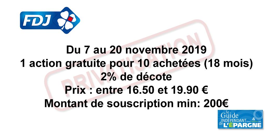 Privatisation de FDJ (Française des Jeux) : entre 16.50 et 19.90€ l'action, faites vos jeux, rien ne va plus