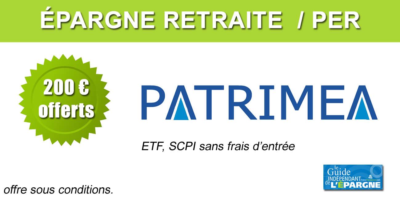 Épargne retraite / PER : nouveaux ETF éligibles sur P-PER de Patrimea