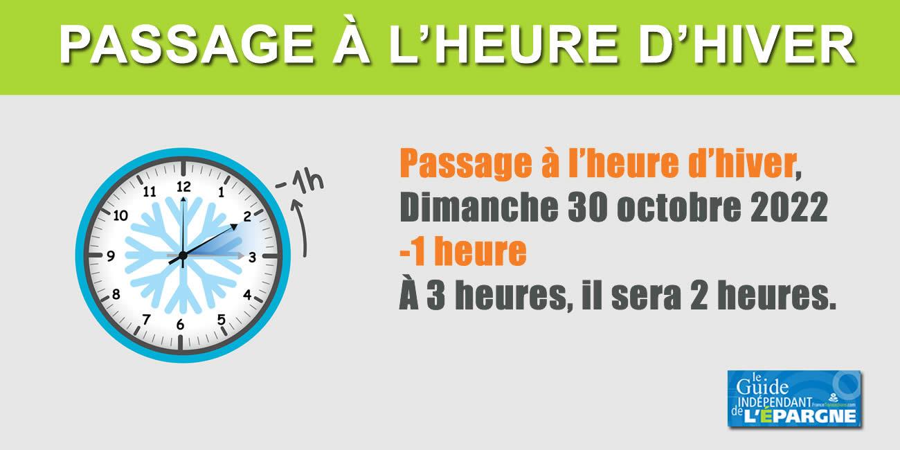 Heure d'hiver, changement d'heure du dimanche 31 octobre 2021 : le dernier passage à l'heure d'hiver ?