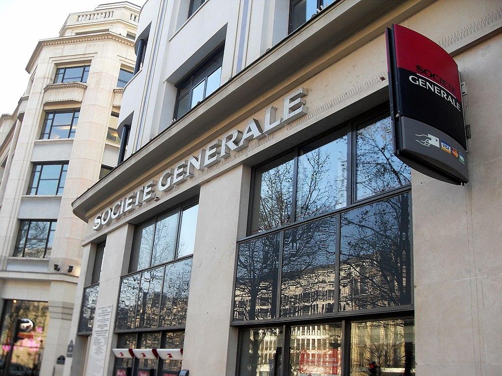 Agence de la Société Générale sur les Champs-Elysées à Paris