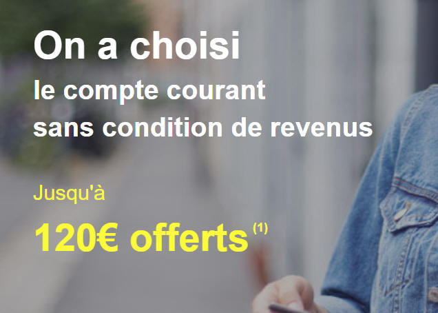 Jusqu'à 120 € offerts aux nouveaux clients