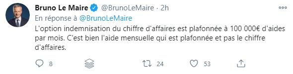 Compte Twitter de Bruno Le Maire