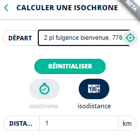 Outils Calculer une isochrone