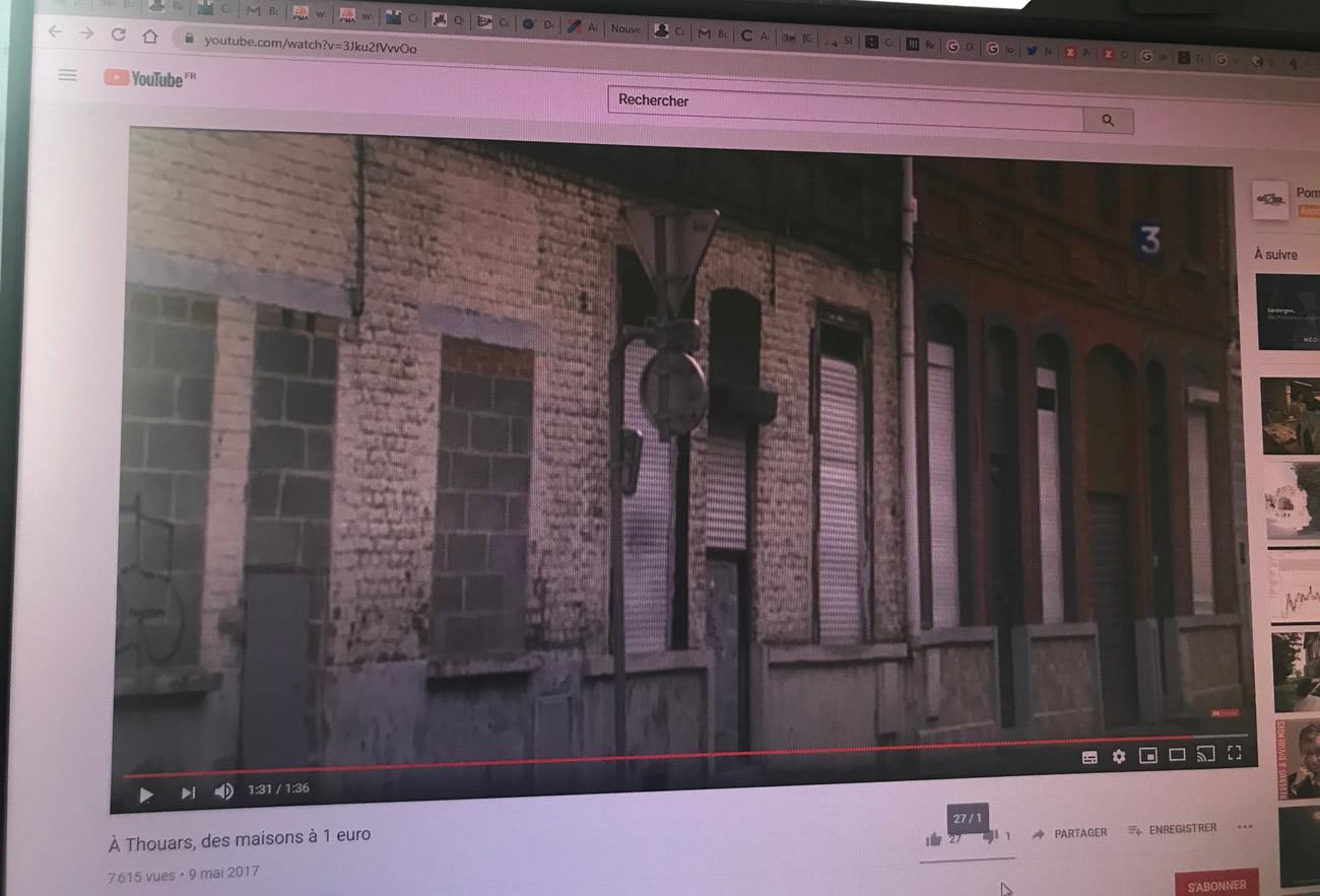 Photo de vidéos reportage sur les maisons à 1 euro à Roubaix