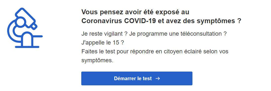 Covid-19: le test en ligne pour savoir si vous devez appeler le 15, ou pas