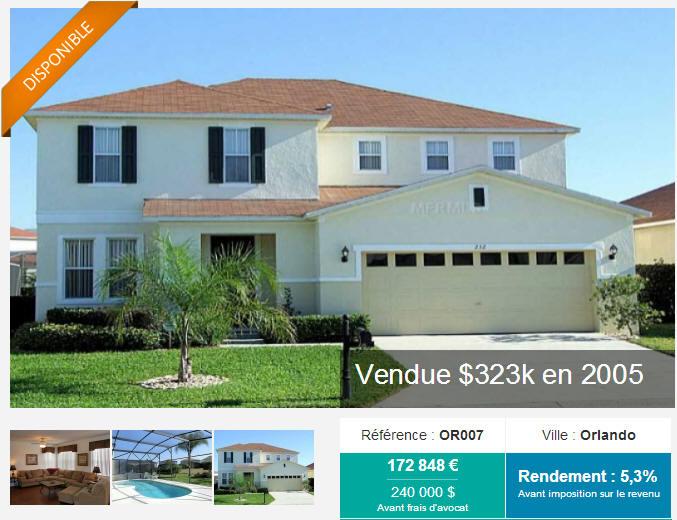 Un exemple de maison commercialisée par My Us Investment, à Orlando (Floride)
