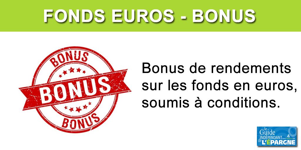 bonus rendement fonds euros