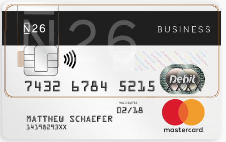 CB MasterCard N26 Business