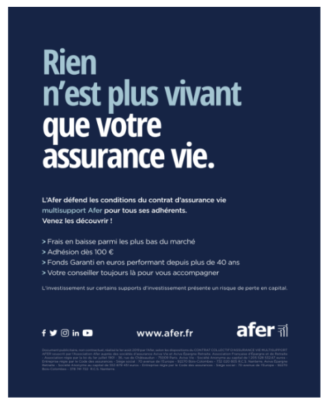 Campagne de communication AFER Septembre 2019