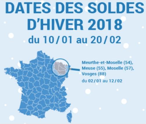 Dates des soldes d'hiver 2018