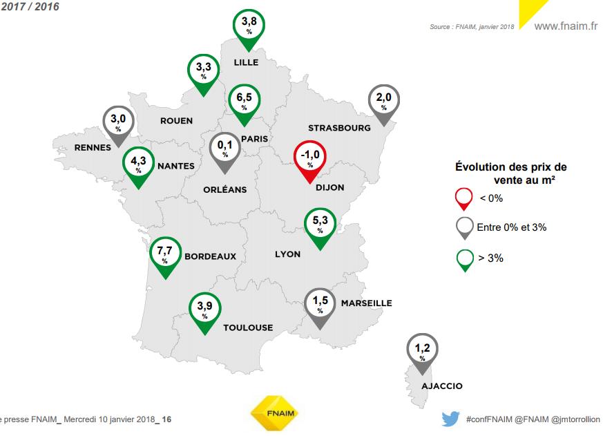 Des disparités importantes sur les prix de l'immobilier en France