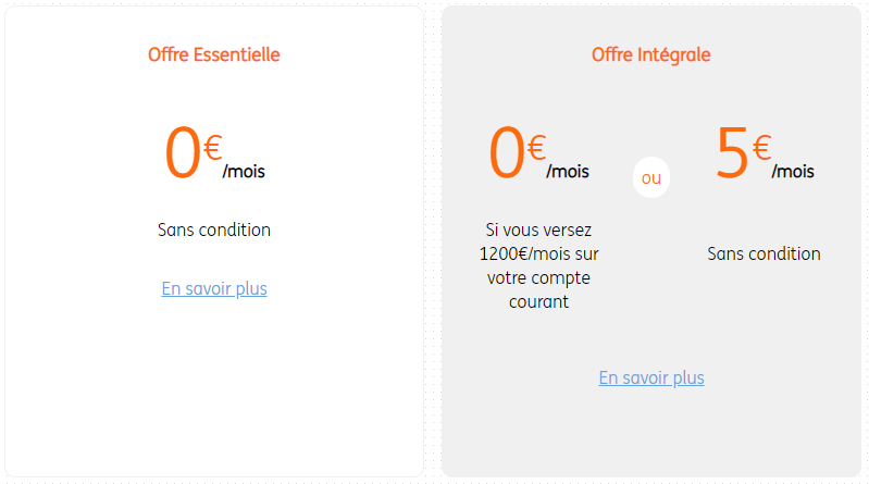 Compte courant ING : 3 offres proposées