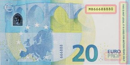 Billet factice de 20 euros comportant les signes distinctifs obligatoires