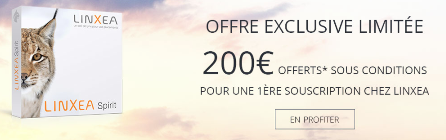 Offre exclusive Linxea Spirit : 200€ offerts, sous conditions