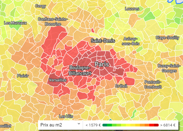 Baromètre des prix Ile de France