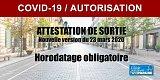 Covid-19 : nouvelle attestation de sortie (autorisation personnelle de déplacement) à utiliser depuis le 24 mars 2020