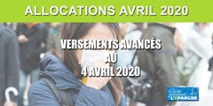 RSA, APL, allocations familiales : versées le 4 avril au lieu du 6, évitez les files d'attente !