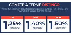 Compte à terme DISTINGO de PSA Banque : de nouveaux taux au 4 juin 2018