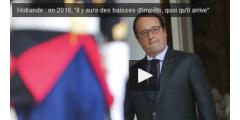Hollande promet l'inversion de la courbe des impôts pour 2016 !