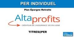 AltaProfits lance son PER Individuel, assuré par SwissLife, TITRES@PER