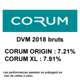 SCPI CORUM ORIGIN et CORUM XL : rendements 2018 de 7.28% et 7.91%, des performances exceptionnelles