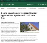 Crédit immobilier à taux négatif ? Un vrai faux exemple au Danemark, ou comment faire le buzz, sans proposer réellement un TAEG négatif