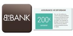 Assurance-Vie BforBank Vie : 200€ offerts pour 3.000€ versés, offre de bienvenue accessible jusqu'au 4 juillet 2019