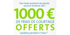 1.000€ de frais de courtages offerts chez Binck, pour tout nouveau compte ouvert !