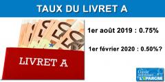 Le taux du Livret A attendu à 0.50% au 1er février 2020