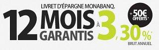 Livret épargne : Monabanq prolonge son offre de bienvenue jusqu'au 11 avril 2012 !