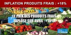 Envolée des prix des fruits et légumes de +18% sur avril !