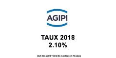 Assurance Vie AGIPI, taux 2018 du fonds euros : 2.10%