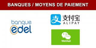 Banque Edel, l'offre la plus complète pour les commerçants, vis à vis des touristes asiatiques (Alipay, WeChat)
